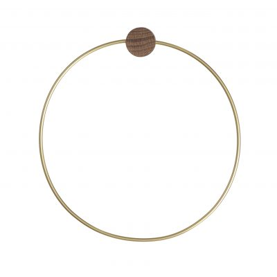 ferm LIVING Towel Holder/Hanger, Brass-0