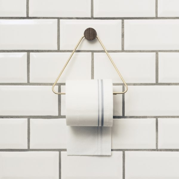 ferm LIVING Brass Toilet Roll Paper Holder-0