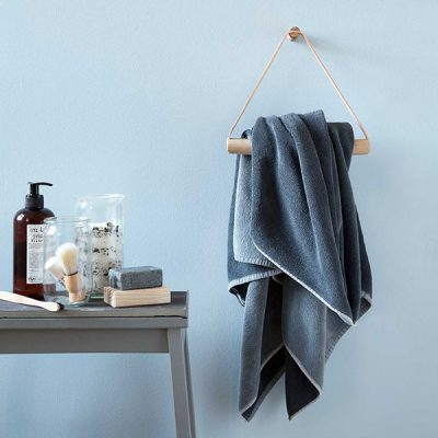 BY WIRTH Towel Hanger Leather + Oak - Nature-0