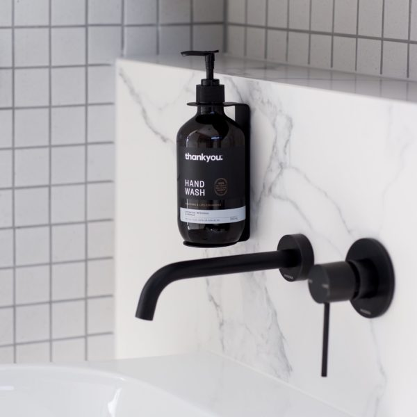DESIGNSTUFF Sanitiser and Soap Dispenser Holder Black-25469