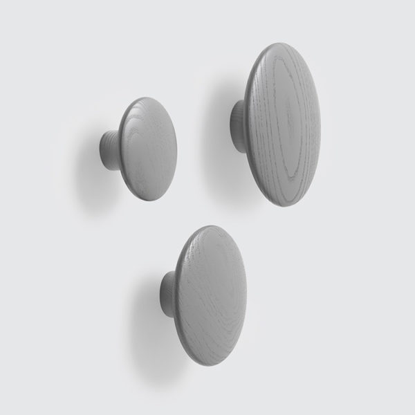 MUUTO The Dots Wall Hook Grey-0