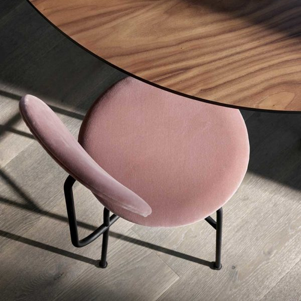 MENU Afteroom Dining Chair Plus, Black/Dusty Rose-19899