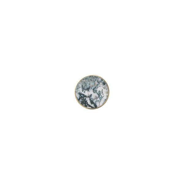 ferm Living Hook Knob Stone, Agate Moss - Large-20063