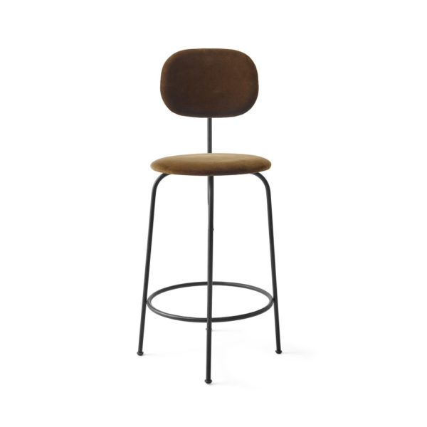 PRE ORDER - MENU Afteroom Bar and Counter Chair Plus, Black/Cognac Velvet -0