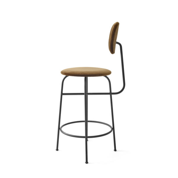 PRE ORDER - MENU Afteroom Bar and Counter Chair Plus, Black/Cognac Velvet -21358