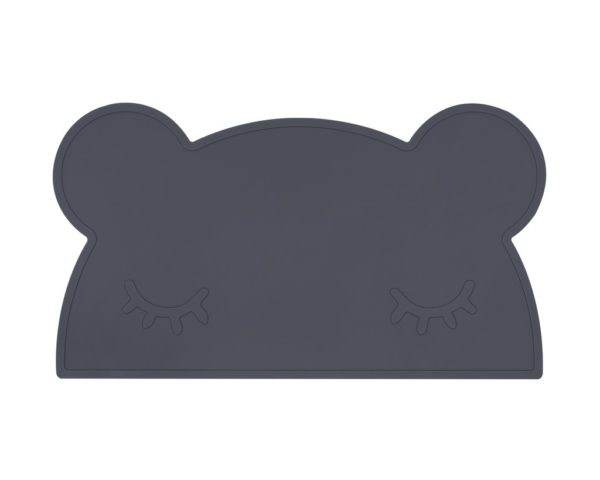 WE MIGHT BE TINY Bear Placie Placemat Charcoal-0
