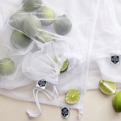 EVER ECO Fruit + Vegetable Mesh Produce Bags - LARGE Bags - 8 PACK-0