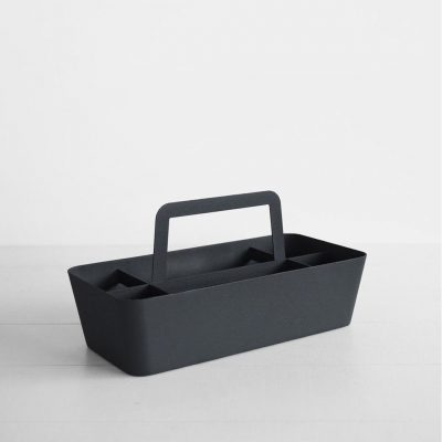 YAMAZAKI Tower Storage and Tool Box Black Large-0