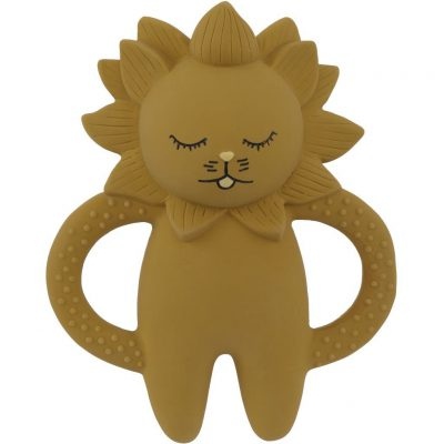 KONGES SLØJD Teether Soother Lion Natural Rubber-0