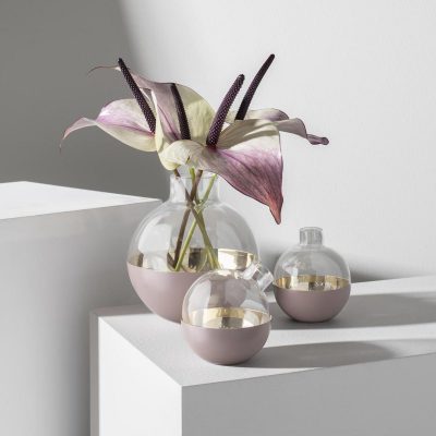SKULTUNA Pomme Vase Small, Dusty Pink-0