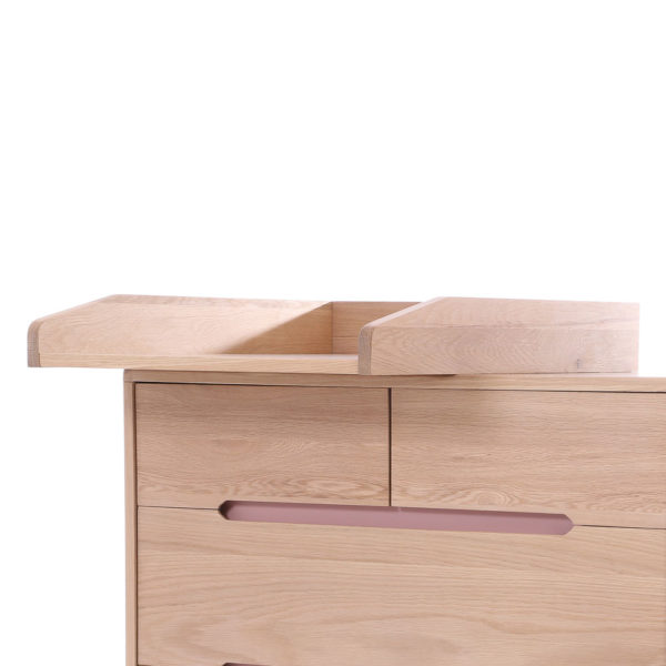 NOBODINOZ Changing Table Top - for Dresser, Pure 50x70 cm-30369