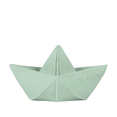 OLI & CAROL Natural Rubber Toy/Bath Toy, Origami Boat - Mint-0
