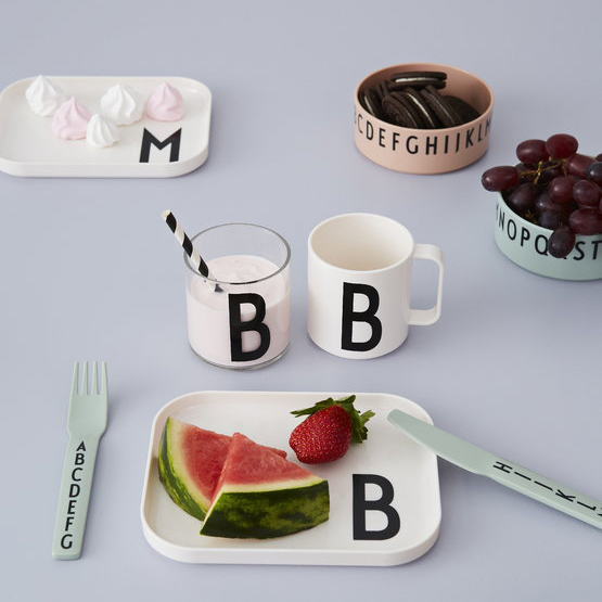 DESIGN LETTERS Breakfast.Lunch.Dinner Bowls Set, Green-30449