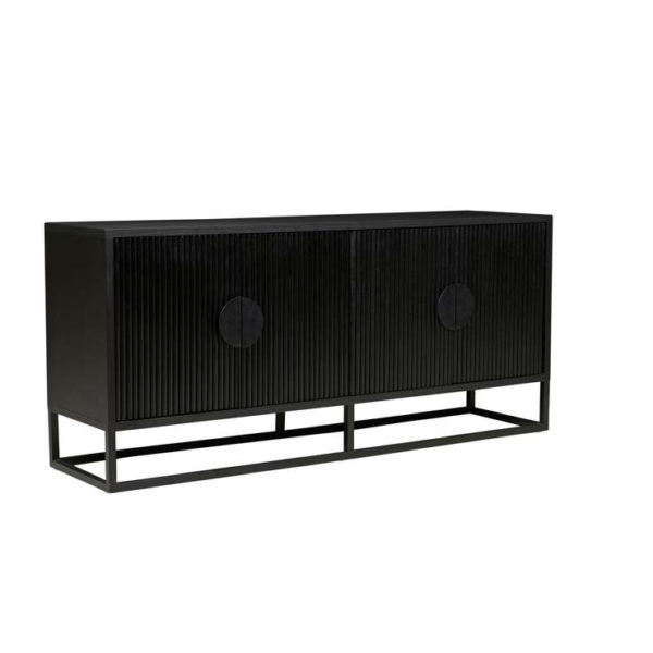 PRE ORDER - GLOBEWEST Benjamin Ripple Buffet, Matt Black-32055