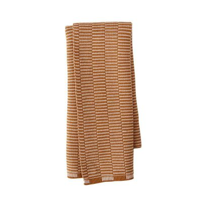 OYOY Stringa Mini Hand Towel, Caramel/Rose-0