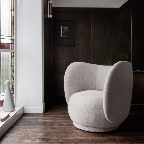 PRE ORDER - ferm LIVING Rico Lounge Chair Bouclé Fabric – 2 colours-0
