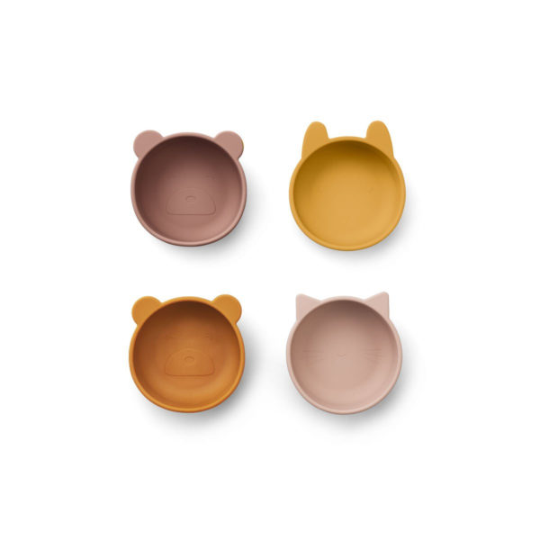 LIEWOOD Iggy Silicone Bowls 4 Pack Rose Mix-0