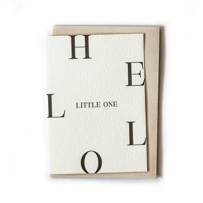 CLARE BERNADETTE Greeting Card Letterpress - Hello Little One-0