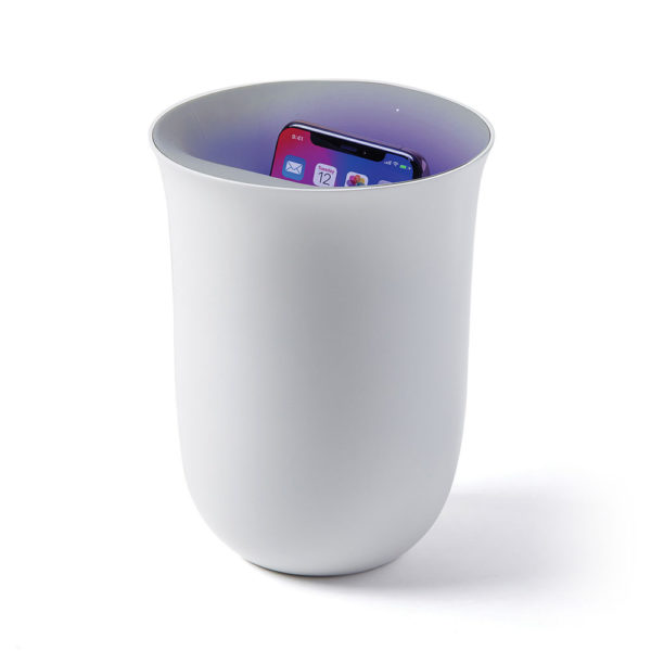 LEXON Oblio Phone Station Wireless Charging / UV Sanitizer, White-0