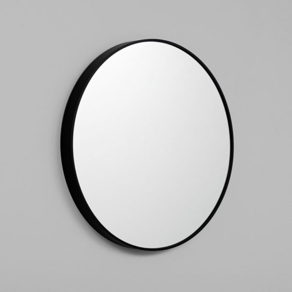 MIDDLE OF NOWHERE Simplicity Round Mirror Black - 3 Sizes-33649