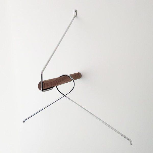 NORDIC FUNCTION Add More Clothes Rack, Black Oak/Chrome-34765