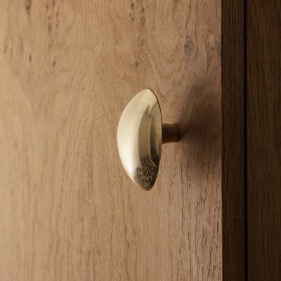 ferm LIVING x Helena Rohner Lemon Wall Hook / Knob, Brass-0
