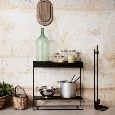 ferm LIVING Plant Box Two-Tier Console Table, Black-0
