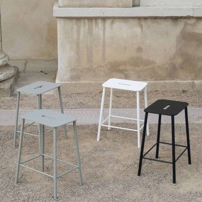 PRE ORDER - FRAMA Adam Stool Indoor / Outdoor, Black H50cm-0