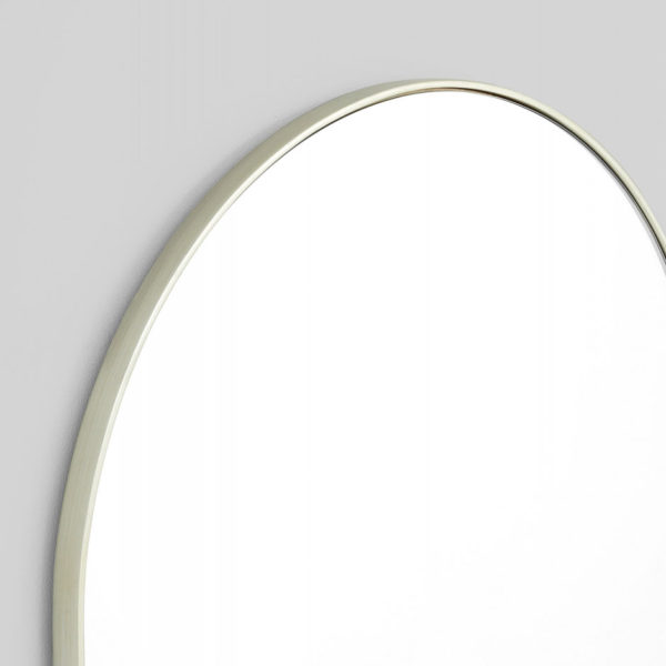 MIDDLE OF NOWHERE Bjorn Oval Mirror, Silver - 50x75cm-35957
